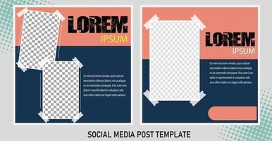bewerkbare postsjabloon social media banners voor digitale marketing. promotie merk mode. verhalen. streaming vector