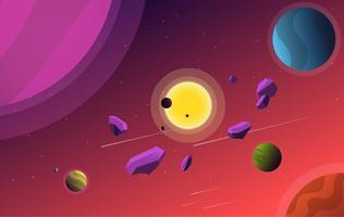 Vector kleurrijke ruimte illustratie