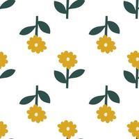 scandinavische lentebloem. vector kinderen naadloze achtergrondpatroon voor babydouche, textielontwerp. eenvoudige bitmappatroon voor Scandinavisch behang, vullingen, webpagina-achtergrond
