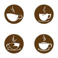 koffiekopje logo afbeeldingen instellen vector