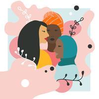 Vrouwen van kleur Vector