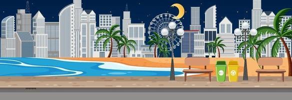 strand stadspark horizontale scène 's nachts