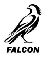 zwarte logo vector van een valk eps 10