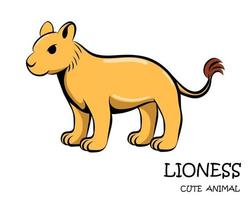 vector van schattige leeuwin eps 10.