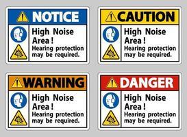 Gehoorbescherming in een omgeving met veel lawaai kan nodig zijn vector