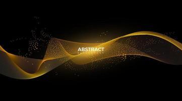digitale golfdeeltjes. futuristische golf. abstracte technologie achtergrond vectorillustratie vector