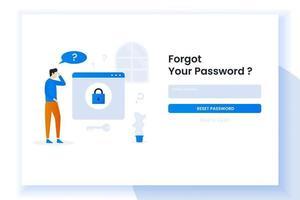 bestemmingspagina illustratie ontwerp mensen haar wachtwoord vergeten