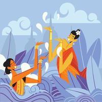 vrouwen in songkran-dagconcept
