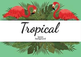 tropische bladeren achtergrond groen illustratie vector ontwerp