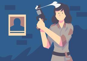 Women Of Colour Policewoman vector