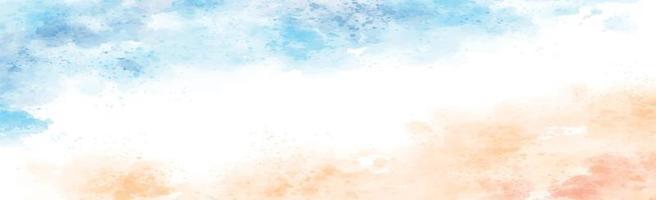 panoramische textuur van realistische veelkleurige waterverf op een witte achtergrond - vector