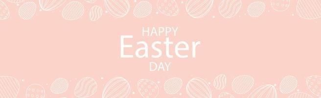 roze Pasen achtergrond met vakantie gefeliciteerd - vector