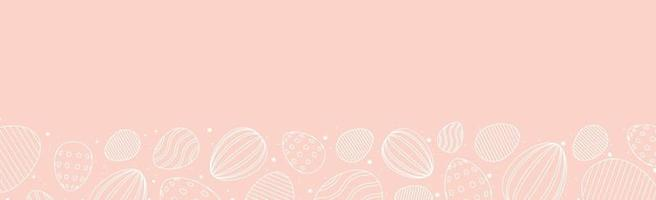 roze Pasen achtergrond met vakantie-elementen - vector