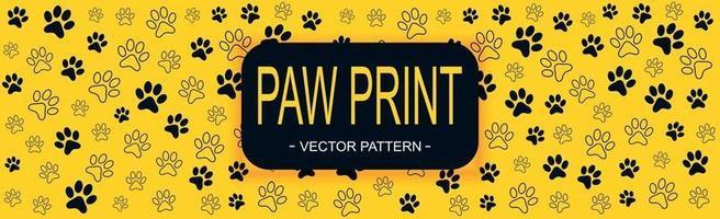 patroon veel dierlijke voetafdrukken van verschillende grootte - vector