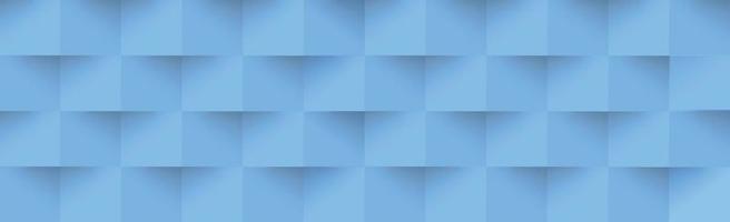 abstracte blauwe achtergrond, websjabloon, vierkanten met schaduw - vector