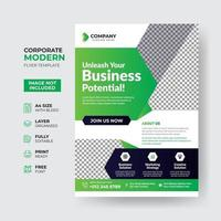 professionele zakelijke flyer sjabloonontwerp