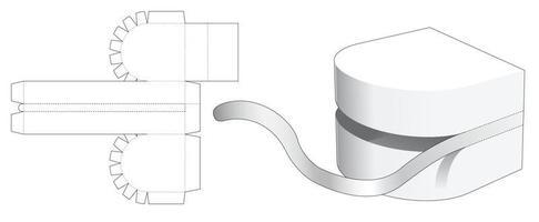 ritssluiting snack ronde container gestanst sjabloon vector