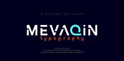 abstracte minimale moderne alfabetlettertypen vector