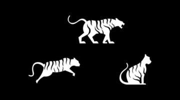 tijger logo set vector