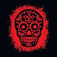heilige dood, dag van de doden, Mexicaanse suikerschedel, grunge vintage ontwerpt-shirts vector