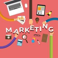 zakelijke handen bouwen marketingplan