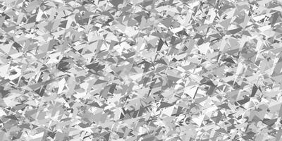 lichtgrijze vectorachtergrond met driehoeken, lijnen.