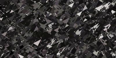 lichtgrijze vectortextuur met willekeurige driehoeken.