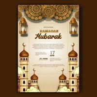ramadan mubarak iftar partij poster banner uitnodiging sjabloon vector