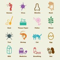 allergieën vectorelementen vector