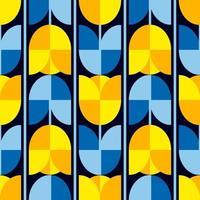 abstract naadloos patroon. tulp bloemen vector