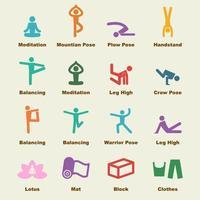 yoga vector-elementen vector