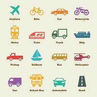 vervoer vectorelementen