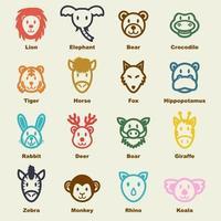wilde dieren elementen vector