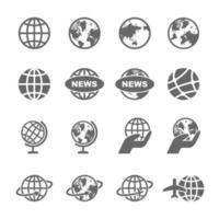 wereldbol vector iconen