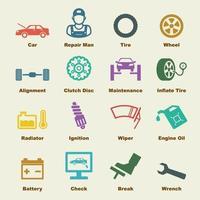 auto service-elementen vector