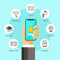 Mobiele betalingsillustratie