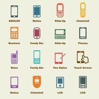 smartphone vector-elementen
