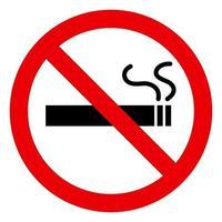 niet roken vector ontwerp