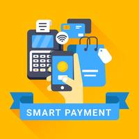 Slimme betaling met mobiele illustratie vector