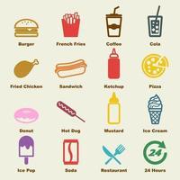 fast food-elementen vector