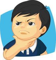 jongen denken af berekend rekening houdend met expressie cartoon
