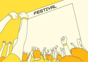 zomerfestival illustratie