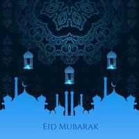 abstract eid Mubarak islamitisch vectorontwerp als achtergrond vector