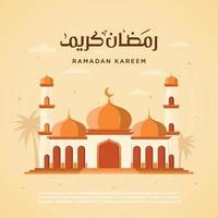 illustratie vector grafische ramadan kareem goed voor wenskaart, achtergrond, flyer, sjabloon. eps 10