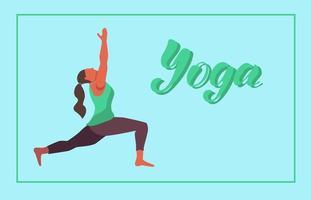 jonge vrouw die yoga doet vector