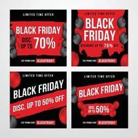 Black Friday-bericht op sociale media