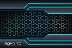 zwart en blauw achtergrondontwerp, technologie zakelijke sjabloon.