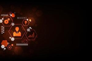 vector achtergrond in het concept van technologie.