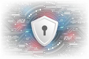 vectortechnologische achtergrond in het concept van beveiligingssystemen.