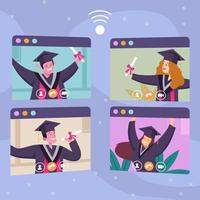 online virtueel afstuderen concept